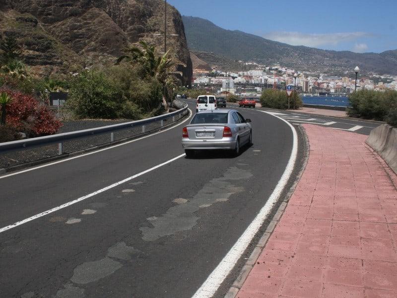 El Cabildo realizará mejora en la carretera de Bajamar, Los Cancajos y el Aeropuerto