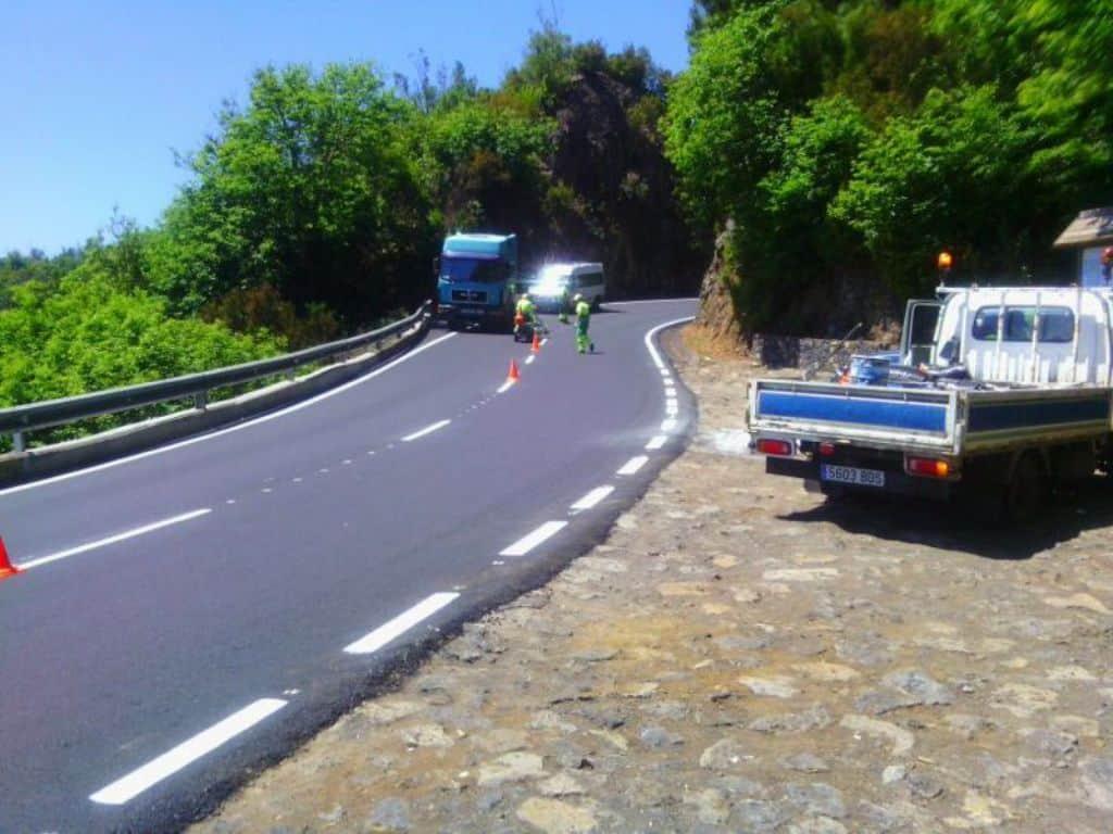 II Plan de Asfalto. Repavimentaciones de las carreteras de La Palma