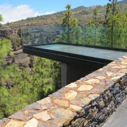Anselmo Pestana inaugura en Puntagorda un mirador panorámico sobre el barranco de Izcagua
