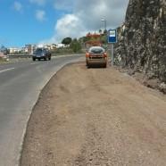 El Cabildo pavimenta el arcén de la LP-1 en la entrada al casco de Tijarafe y la curva junto al enlace del camino de Tagomate