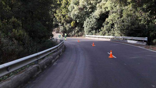 Mejora de la seguridad en la LP-3 Carretera de la Cumbre