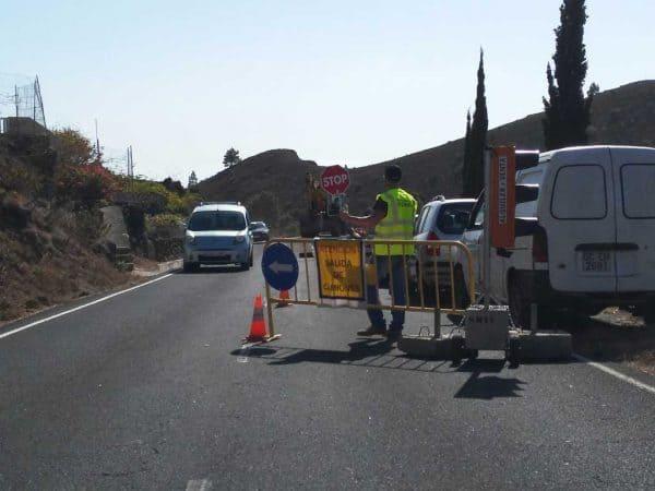 cortes intermitentes en carreteras