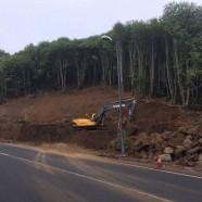 El Cabildo de La Palma ejecuta diversas obras de pavimentado, drenaje y refuerzo de muros en varias carreteras de la Isla