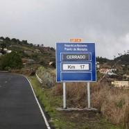 El Cabildo cierra al tráfico la carretera LP-4 del Roque de Los Muchachos desde el Pico de La Nieve