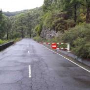 Cortes intermitentes de tráfico en la LP-4 de acceso al Roque de Los Muchachos
