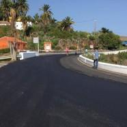 El Cabildo repavimenta un tramo de un kilómetro de la Carretera de El Zumacal