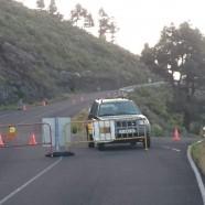 La Consejería de Infraestructuras mantiene cerrada al tráfico la carretera LP-209 de Las Indias por un desprendimiento