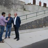 Anselmo Pestana visita varias obras que el Cabildo de La Palma acomete en Barlovento