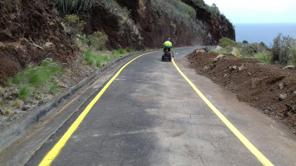 El Cabildo reabre de forma limitada la carretera de Martín Luis, en Puntallana