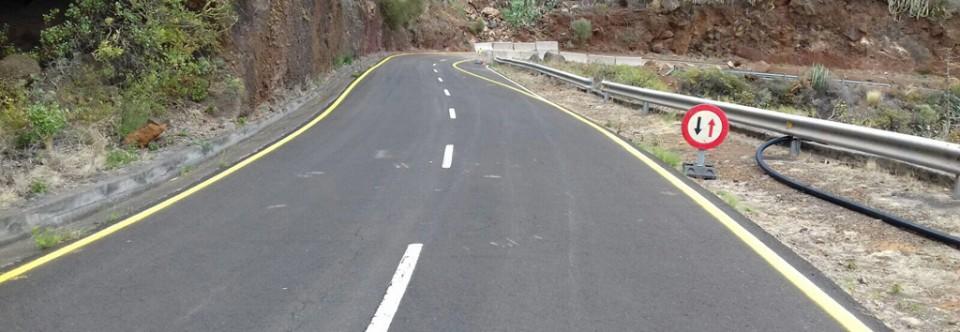 El Cabildo restituirá el tramo de vía afectada por un desprendimiento en la costa de Puntallana