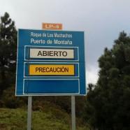 El Cabildo restringe el acceso de vehículos a la carretera del Roque de Los Muchachos por Garafía