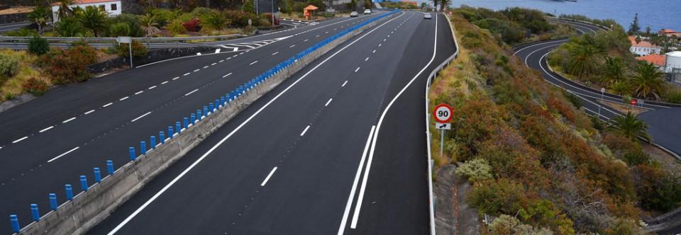El Cabildo concluye la última fase de repavimentado del eje viario entre el aeropuerto y Santa Cruz de La Palma