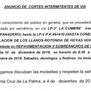 El Cabildo repavimentará la carretera de la Cumbre entre Tajuya, en El Paso, y la circunvalación de Los Llanos de Aridane