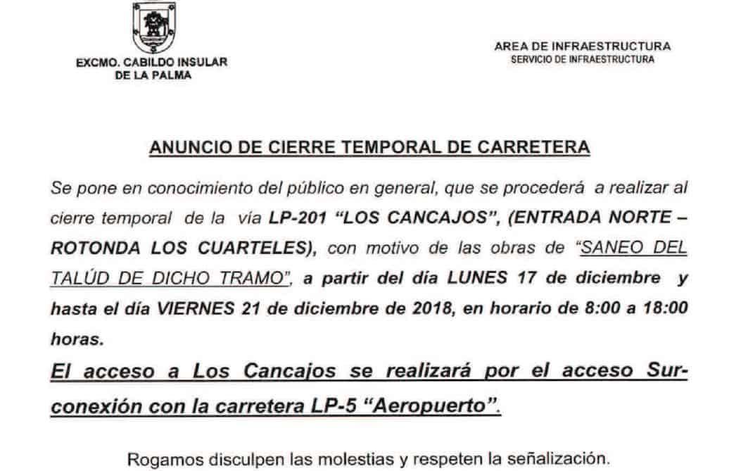 El Cabildo mejora la seguridad de una de las vías de acceso al núcleo turístico de Los Cancajos