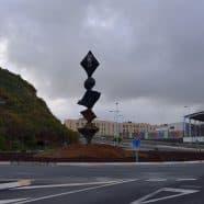 La glorieta del casco urbano de Puntallana luce desde hoy una escultura del artista Tomaso Hernández
