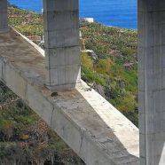 Un dron participa en la revisión del Puente de Los Tilos