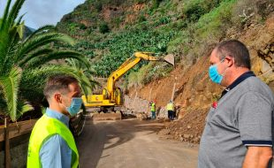 El Cabildo ya ha ejecutado el 70% de las obras de repavimentación y mejora de la LP-105 de Los Tilos